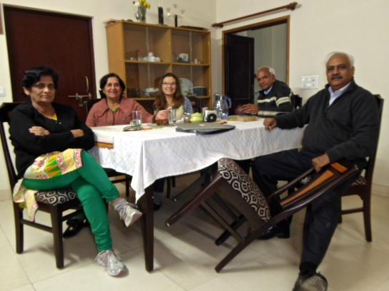 Dinner with our Indian family