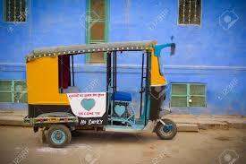 rickshaw with blue