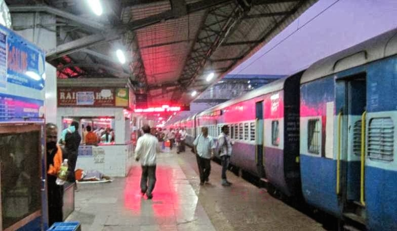 train st by night